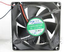 New Original TX8025L12S 12V 0.08A 8025 8cm quiet silent cooling fan