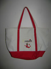 "LEGO Canvas Tote Storage Shopping Bag LEGOLAND FLORIDA 12"" x 15"" x 6"" VERY RARE"
