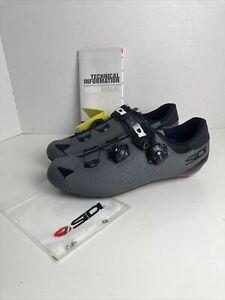 Sidi Genius 10 Road Cycling Bicycle Shoes Black/Grey Size 43EU/8-US(M)/9.5US(W)