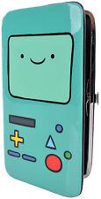 Adventure Time Beemo Wallet Snap Bifold Vinyl Cartoon Money Card ID Holder Teal