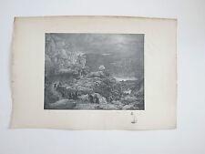 Lithographie ancienne - les Danaides - XXe gravé par Broquelet  - Demon Breton