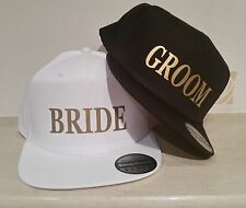 BRIDE GROOM Snapback Pair Fashion PRINTED Caps Hip-Hop Hats Wedding Mr and Mrs