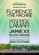 FLORENCE + THE MACHINE 2016 LONDON, U.K. CONCERT TOUR POSTER - Indie Rock Music
