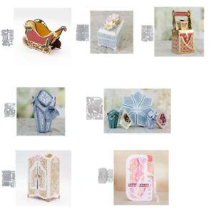 Metal Cutting Dies Scrapbooking Die Cut Gift Box Candy Box Paper Card Craft Xmas