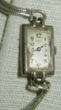 OLD AHRENS, NIVIA WOMAN'S WRISTWATCH, WATCH, STERLING SILVER, 15 JEWELS
