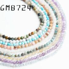 Piedra natural 2mm Facetado Turquesa Perlas Joyas Maing suministros Apatita