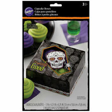 Day of the Dead Skull Halloween Cupcake Boxes 4 ct from Wilton #3179 - NEW