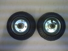 "2 x 6"" pneumatic wheels 12mm centre hub for cart barrow truck"