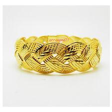 Gold Plated Filled Bracelet Bangle 006 Braid 22K 23K 24K Thai Baht Yellow