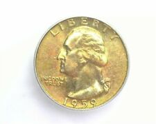 1959-D WASHINGTON SILVER 25 CENTS ICG MS67+ LISTS FOR $8500! GOLDEN TONED RARE!