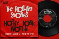 """ROLLING STONES HONKY TONK WOMEN/YOU CAN'T ALWAYS GET..1969 DIFF LABEL EXYU 7""""PS"""
