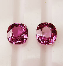 PINK CEYLON 3.43ct!! NATURAL SAPPHIRES MATCHING PAIR +CERTIFICATE AVAILABLE