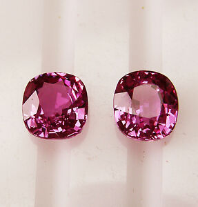 PINK CEYLON 3.43ct!! NATURAL SAPPHIRES MATCHING PAIR +CERTIFICATES AVAILABLE