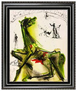 Salvador Dali Victim Of Festivities Glazed Ceramic Tile Signed Bullfight Artwork