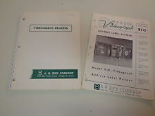 A.B. Dick Company Videograph Printer Industrial Catalogs 1960's