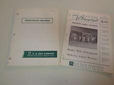 A.B. Dick Company Videograph Printer Industrial Catalogs 1960's