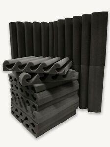 Acoustic foam tiles UK made carbon neutral Soundproofing Studio foam corner kit
