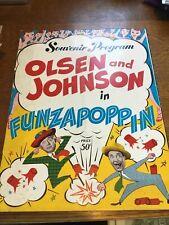 OLSEN & JOHNSON IN: FUNZAPOPPIN  BROADWAY PROGRAM