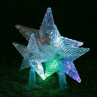 Star LED Light Christmas Tree Topper Party Ornament d Xmas DIY Operated J6C9