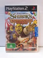 PS2 Shreks Carnival Craze Party Games Inc Manual