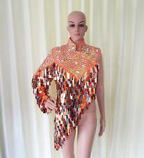 Da NeeNa R29 Orange Sexy Elegant Queen Latin Samba Drag  Dance Dress M