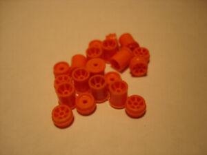 10 PAIR H.O. SCALE REPRO PLASTIC RIM SETS AURORA G+/TURBO/SRT/SG+/AFX ORANGE