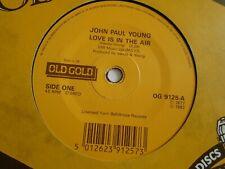 "JOHN PAUL JONES - LOVE IS IN THE AIR / LOVE SO BAD HURTS  OLD GOLD 7"" SINGLE"