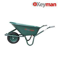 Carriola con vasca Pvc ruota 400x100 con cuscinetti a rullo 100 lt verde Keyman