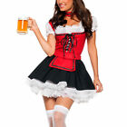 Dirndl Oktoberfest Ladies German Beer Maid Costume Fancy Dress Party M-XXL