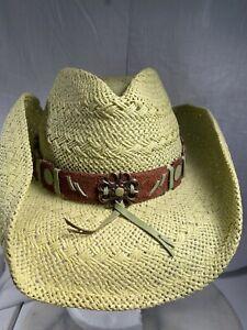 Bullhide Straw Floral Rose Gold Hardware Suede Embellished Cowboy Hat