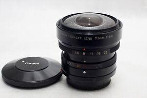 Canon FD 7.5mm f5.6 Fisheye Lens  *Excellent*