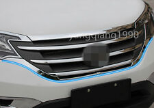 Chrome Front Bottom Grille Grill cover trim 2pcs for Honda CRV CR-V 2012 - 2014