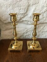 A Pair Of Lovely Large Vintage Antique Solid Brass Candlesticks