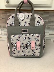 Disney Baby Minnie Mouse Multi-Piece Diaper Bag Backpack Set 14 Pockets NWT
