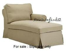 IKEA EKTORP Chaise Cover Right Arm Idemo Beige Longue Chaise Slipcover NEW NOS