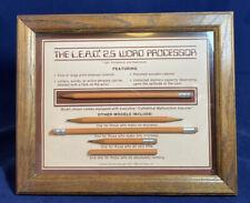 """Vintage 1984 Pencil LEAD 2.5"""" Word Processor Shadow Box"""
