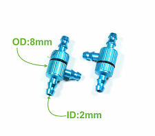 "2pcs Aluminum RC Fuel Splitter Filter 1 1/8"" ø2-ø3.5mm tubing Blue 005-01205A"
