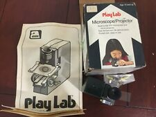 Vintage 1975 Play Lab Microscope Projector Set w/ Box Kid's Toy Japan Alabe NY