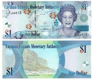 CAYMAN ISLANDS $1 Dollar (2014) P-38d UNC Banknote Prefix D/5 Paper Money