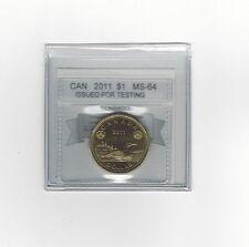 *2011 TT-100.25 Test Token*Coin Mart Graded Canadian, Loon Dollar,*MS-64*