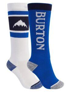 Burton Weekend Midweight 2-Pack Snowboard Socks - Kids - M/L / Stout White/Lapis