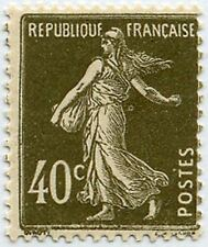 "FRANCE STAMP TIMBRE N° 193 "" SEMEUSE FOND PLEIN, 40 C BRUN OLIVE "" NEUF xx TTB"