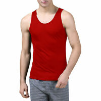 Pure Silk Knit Mens Vest Tank Top Solid US S M L