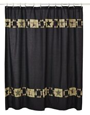 Primitive Star Black Shower Curtain 72""