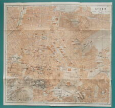 "1934 MAP City Plan 12 x 12"" (31 x 31 cm) - ATHENS Greece"