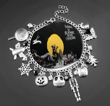 NEW Nightmare Before Christmas Silver Plated Charm Bracelet - Perfect Gift