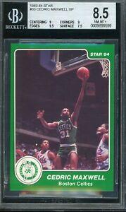1983-84 Star Basketball #33 Cedric Maxwell SP Boston Celtics BGS 8.5 NM-MT+
