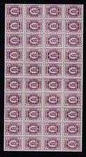 AUSTRIA,1922,postage due 4000 K nice sheet of 40,MNH