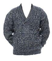 Da Uomo M L XL NUOVA girocollo Maglione Verde Lana Acrilica Mix Pullover sweater