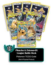 1x League Battle Deck: Pikachu & Zekrom GX TCGO PTCGO TCG Online Codes Sent Fast